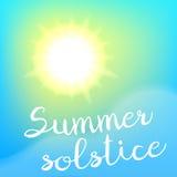 Manifesto di solstizio di estate Fotografia Stock Libera da Diritti