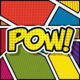 Manifesto di stile del fondo di Pop art illustrazione vettoriale