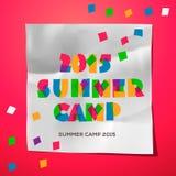 Manifesto di tema del campeggio estivo di viaggio Fotografia Stock