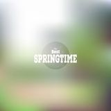 Manifesto di tempo di primavera, web di vettore e cellulare illustrazione di stock