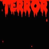 Manifesto di terrore illustrazione vettoriale