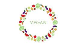 Manifesto di tipografia del vegano Fotografie Stock Libere da Diritti