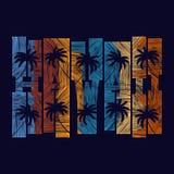 Manifesto di tipografia delle Hawai Concetto nello stile d'annata per la stampa Fotografie Stock
