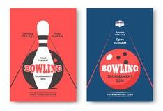 Manifesto di torneo di bowling Fotografia Stock