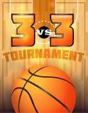 Manifesto di torneo di pallacanestro Fotografie Stock