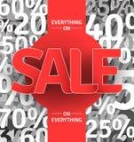 Manifesto di vendita Fotografia Stock