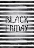 Manifesto di vendita di Black Friday Immagine Stock