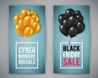 Manifesto di vendita di Black Friday Fotografie Stock Libere da Diritti