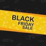 Manifesto di vendita di Black Friday Fotografia Stock Libera da Diritti