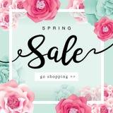 Manifesto di vendita della primavera Immagini Stock Libere da Diritti