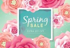 Manifesto di vendita della primavera illustrazione vettoriale