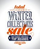 Manifesto di vendita delle collezioni invernali. illustrazione di stock
