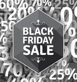 Manifesto di vendita di Black Friday Fotografia Stock