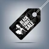 Manifesto di vendita di Black Friday Fondo poligonale basso Fotografia Stock
