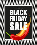 Manifesto di vendita di Black Friday nella retro progettazione Fotografia Stock