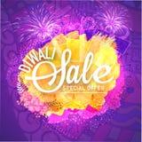 Manifesto di vendita di Diwali, insegna o progettazione dell'aletta di filatoio Fotografie Stock