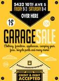 Manifesto di vendita di garage Fotografia Stock