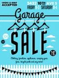 Manifesto di vendita di garage illustrazione di stock