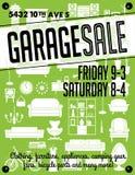 Manifesto di vendita di garage Immagini Stock
