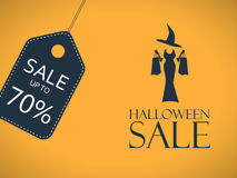 Manifesto di vendita di Halloween Autoadesivo di sconto con sexy royalty illustrazione gratis
