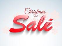 Manifesto di vendita di Natale, insegna o progettazione dell'aletta di filatoio Fotografia Stock Libera da Diritti