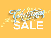 Manifesto di vendita di Natale, progettazione dell'insegna Immagine Stock