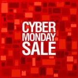 Manifesto di vendita di Syber lunedì Fotografie Stock Libere da Diritti