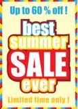 Manifesto di vendita di estate Fotografia Stock Libera da Diritti