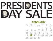 Manifesto di vendita di presidenti Day Fotografia Stock Libera da Diritti