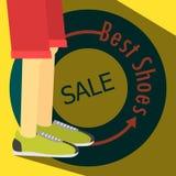 Manifesto di VENDITA, scarpe da corsa Fotografia Stock Libera da Diritti