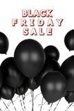 manifesto di vendita di venerdì del nero 3d royalty illustrazione gratis