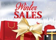 Manifesto di vendite di inverno Fotografia Stock Libera da Diritti