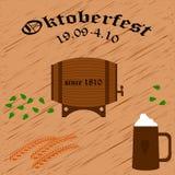 Manifesto di vettore di Oktoberfest illustrazione di stock