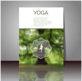 Manifesto di vettore di yoga Riguardi la progettazione di foto vaga con il vostro testo Fotografia Stock Libera da Diritti