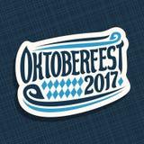 Manifesto di vettore per il festival Oktoberfest della birra Immagine Stock