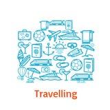 Manifesto di vettore per il viaggio e le vacanze estive Fotografie Stock