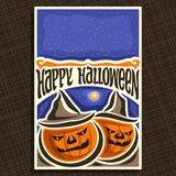 Manifesto di vettore per la festa di Halloween illustrazione di stock