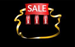 Manifesto eccellente di vendita, insegna Illustrazione di vettore Priorità bassa nera Immagine Stock