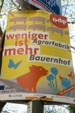 Manifesto ecologico della campagna politica del partito democratico immagini stock libere da diritti