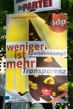 Manifesto ecologico della campagna politica del partito democratico fotografia stock libera da diritti