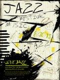 Manifesto elegante di musica di festival di jazz Immagine Stock Libera da Diritti