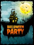 Manifesto felice del partito di Halloween ENV 10 Fotografia Stock