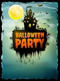 Manifesto felice del partito di Halloween ENV 10 Immagine Stock Libera da Diritti