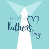 Manifesto felice della cartolina d'auguri di Day Family Holiday del padre Fotografie Stock Libere da Diritti