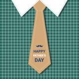 Manifesto felice della cartolina d'auguri di Day Family Holiday del padre Fotografia Stock Libera da Diritti