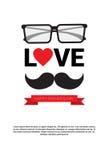 Manifesto felice della cartolina d'auguri di Day Family Holiday del padre Immagini Stock Libere da Diritti