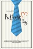 Manifesto felice della cartolina d'auguri di Day Family Holiday del padre Immagine Stock Libera da Diritti