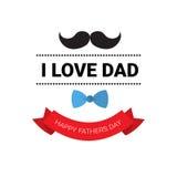 Manifesto felice della cartolina d'auguri di Day Family Holiday del padre retro Fotografie Stock Libere da Diritti