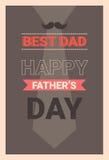 Manifesto felice della cartolina d'auguri di Day Family Holiday del padre retro Immagini Stock Libere da Diritti