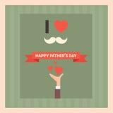 Manifesto felice della cartolina d'auguri di Day Family Holiday del padre retro Fotografia Stock